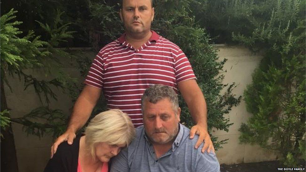 Michael's Mum and Dad and his friend Vince who went on holiday and stayed with him through it all