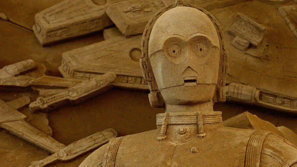 A Star Wars sand sculpture in Japan
