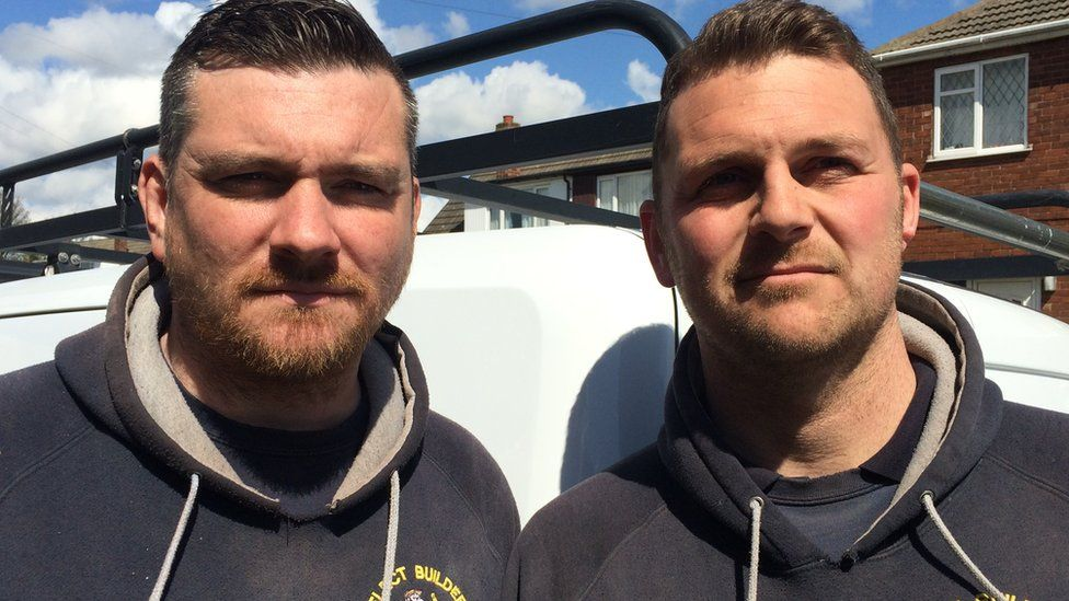 Tradesmen Spencer and Paul