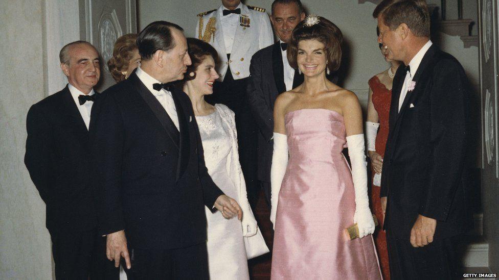 Jackie Kennedy and her husband JFK