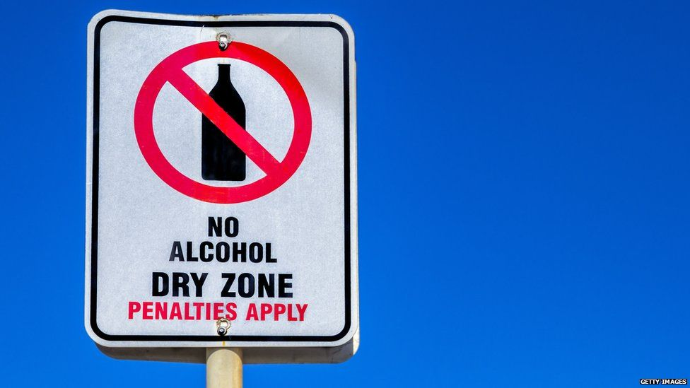No Alcohol zone sign