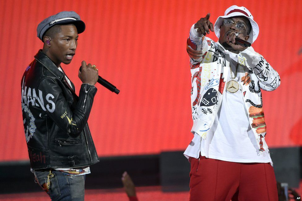 Pharrell Williams and P Diddy