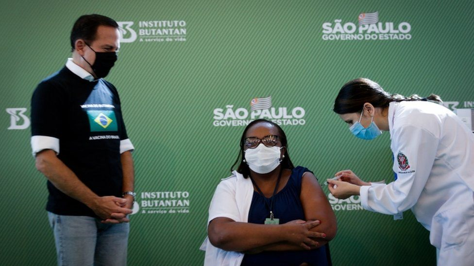 Monica Calazans, a nurse at the Hospital las Clinicas in the capital of Sao Paulo