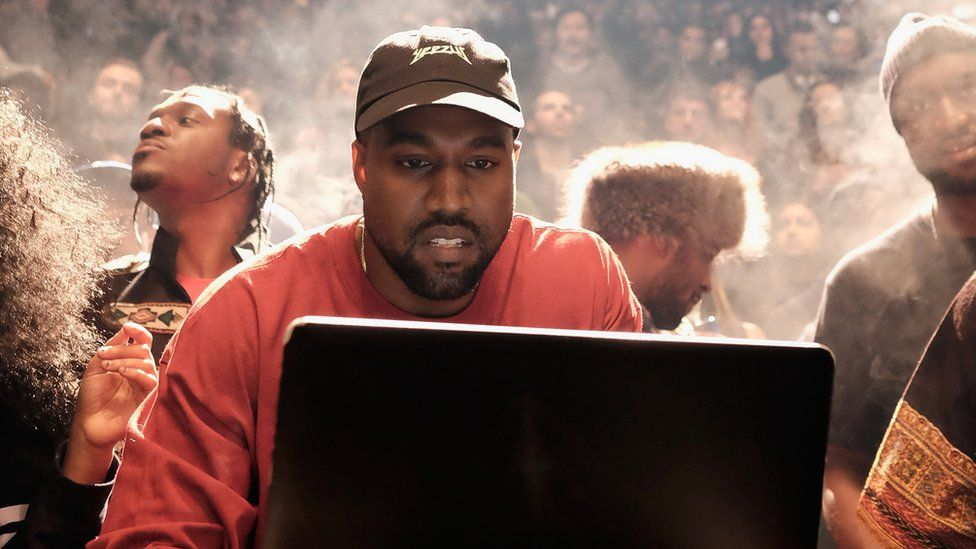 Kanye West performing in New York in February