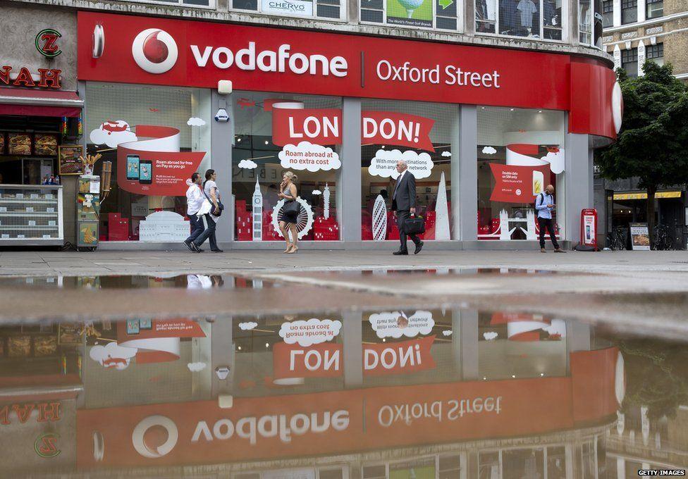 Vodafone store on Oxford Street