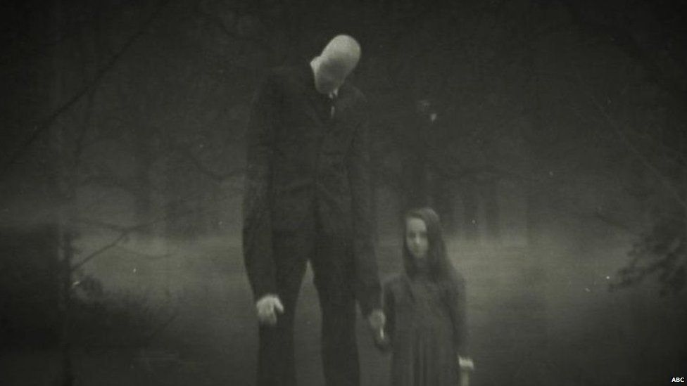 The Slender Man character is often the subject of online horror stories written by teens