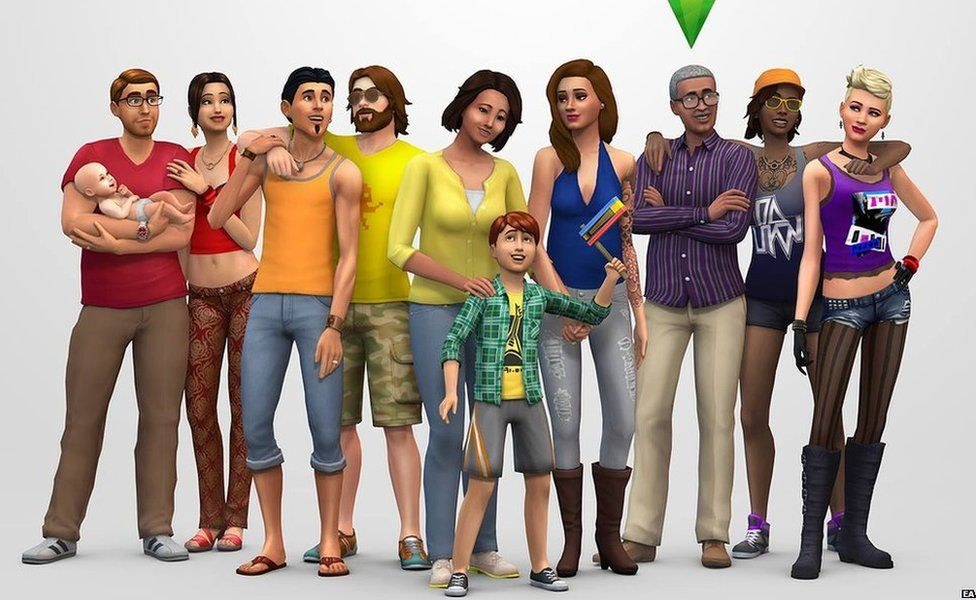 Characters from The Sims 4