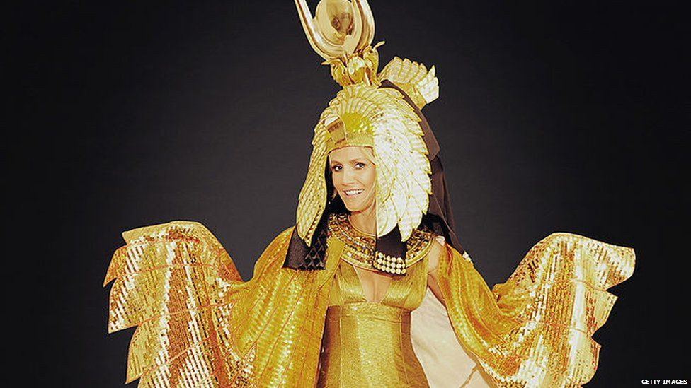 Heidi Klum in her Halloween costume from 2012