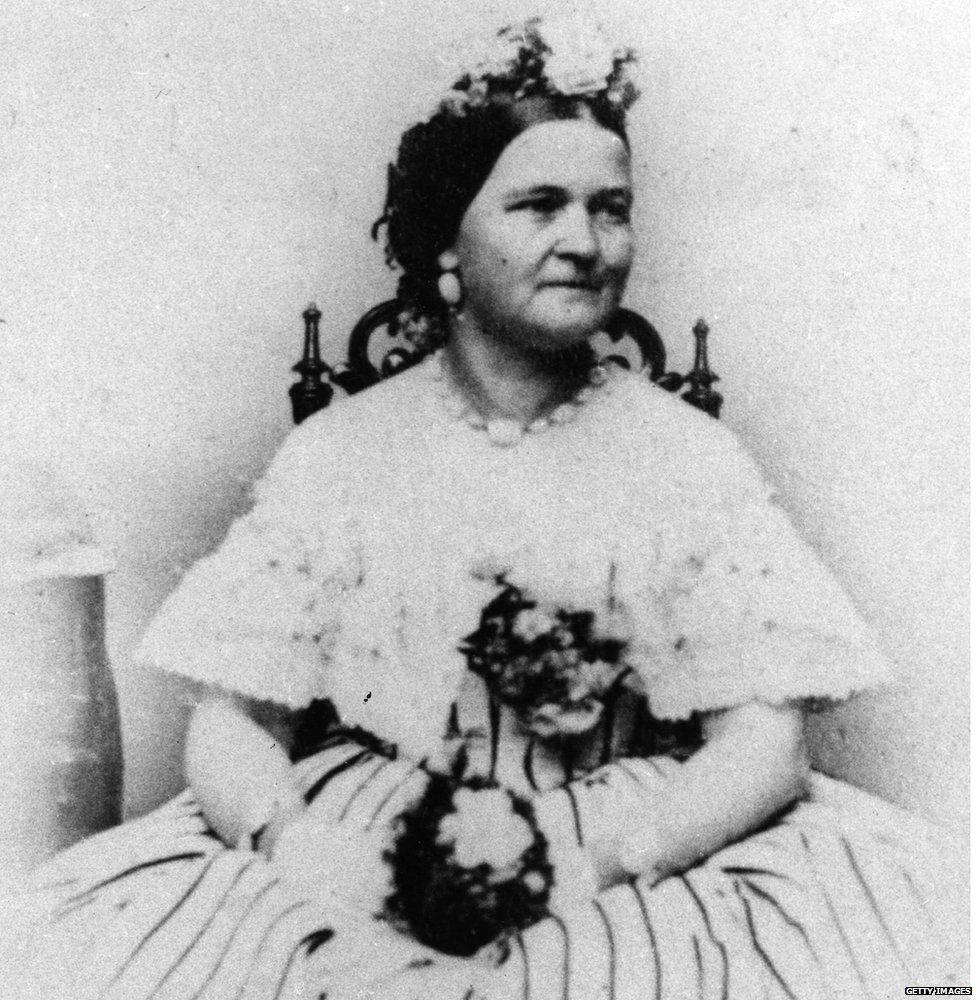 Mary Lincoln, circa 1865