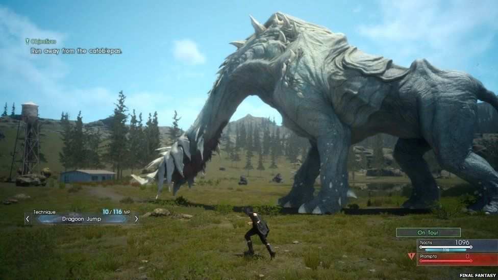 A screenshot from the game