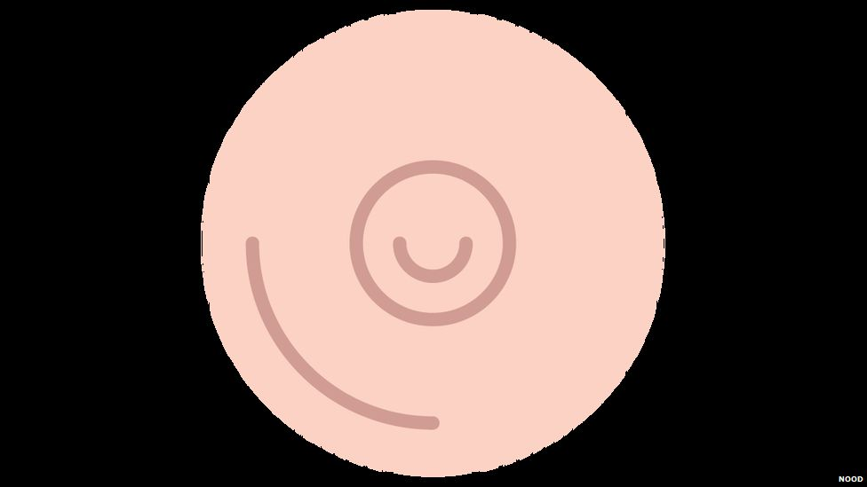 One of Nood's nipple stickers