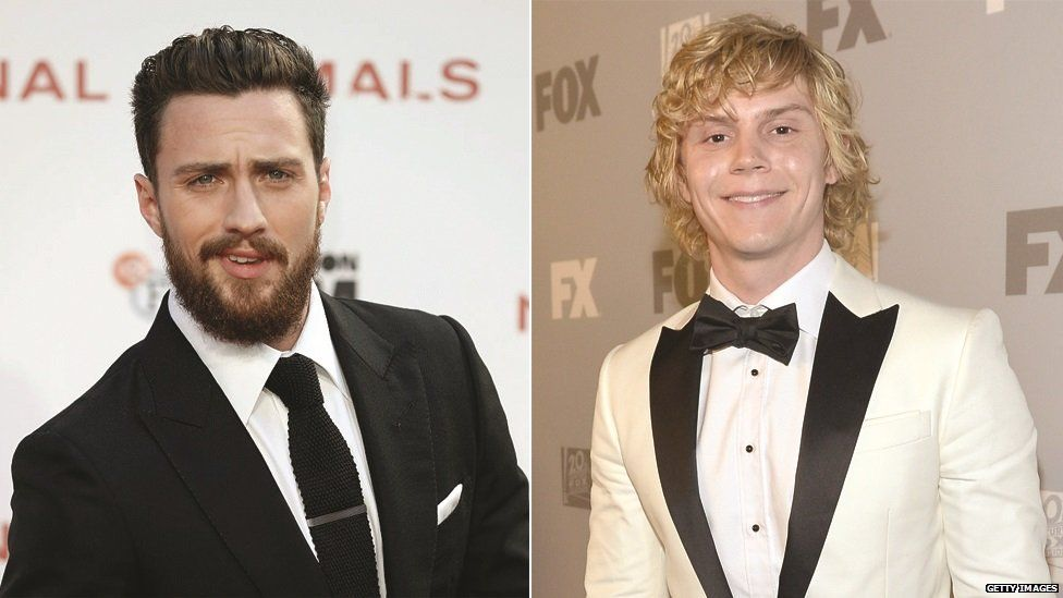Aaron Taylor-Johnson and Evan Peters