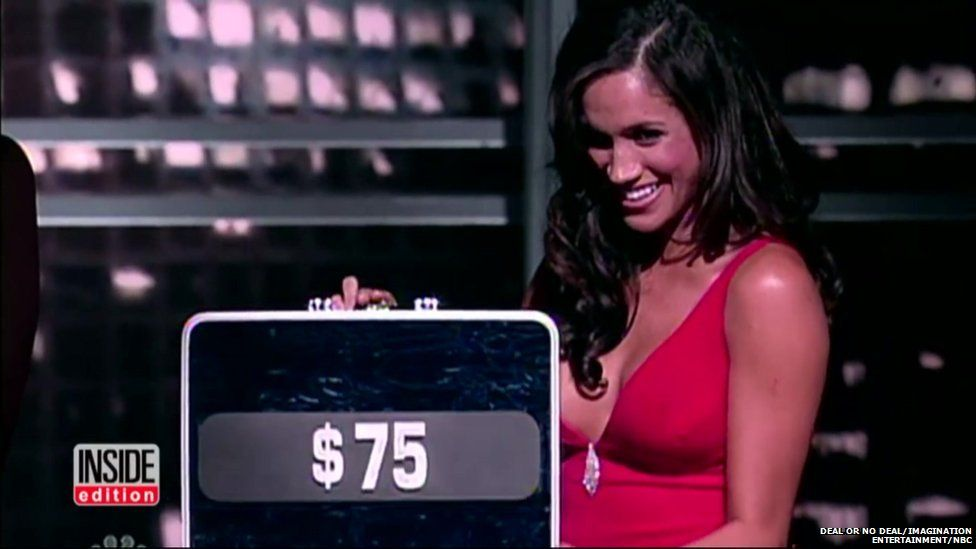 Meghan Markle appearing on Deal or No Deal