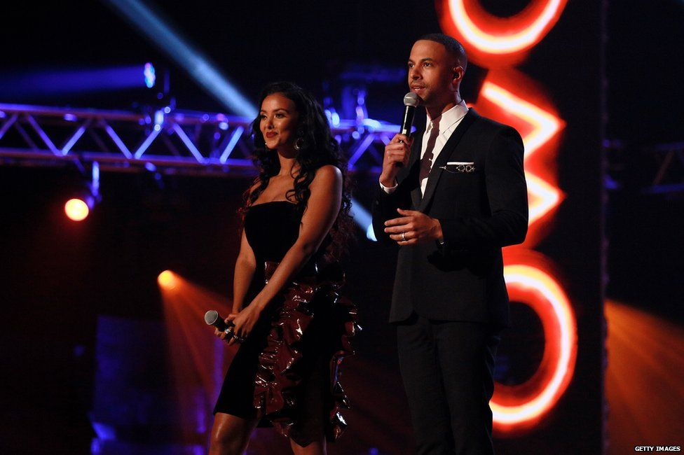 Maya Jama and Marvin Humes