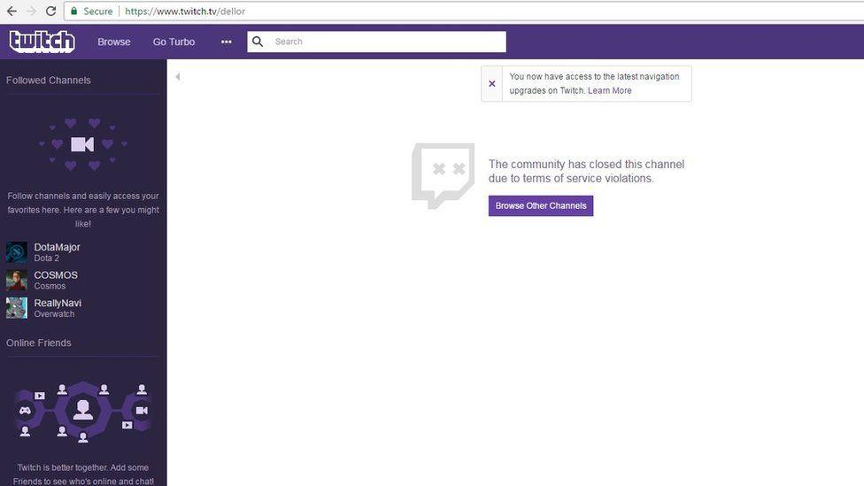 "Matt ""Dellor"" Vaughn's Twitch channel has been closed down"
