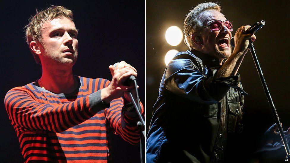 Damon Albarn and Bono