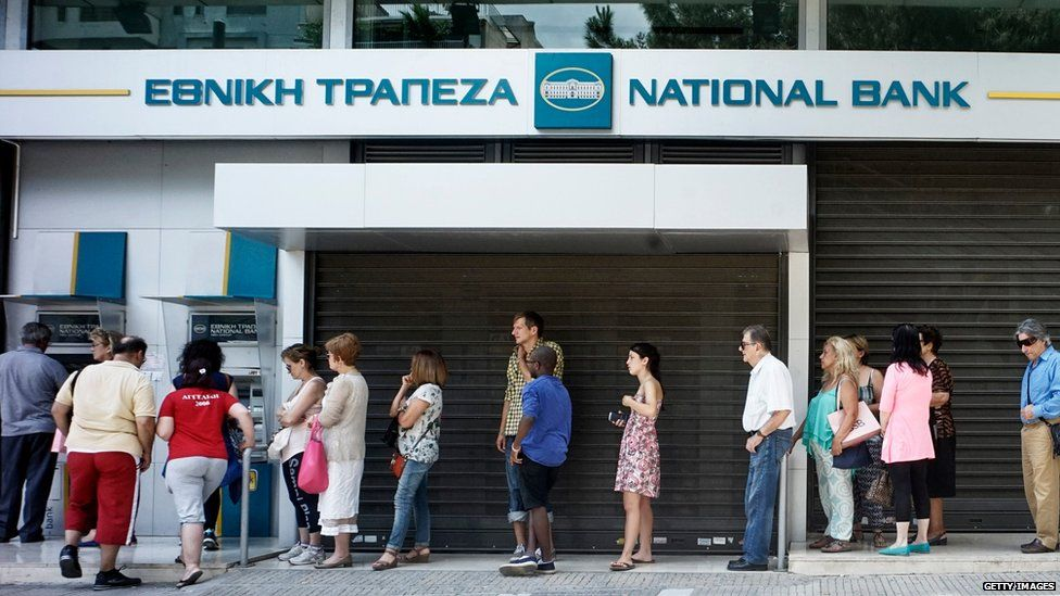 Queue at a bank in Athens, 27 June 2015