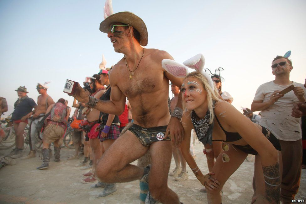 Burning Man festival-goers