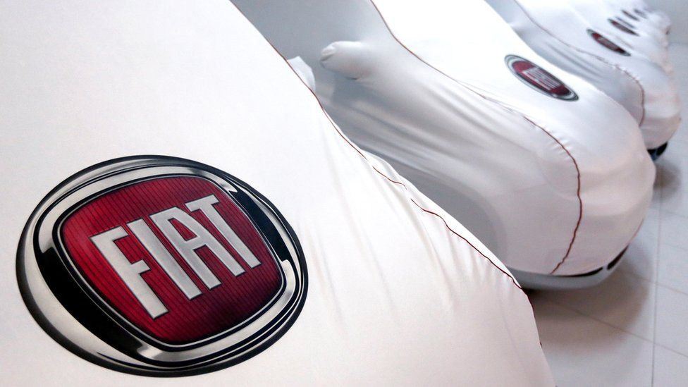 Fiat cars under covers