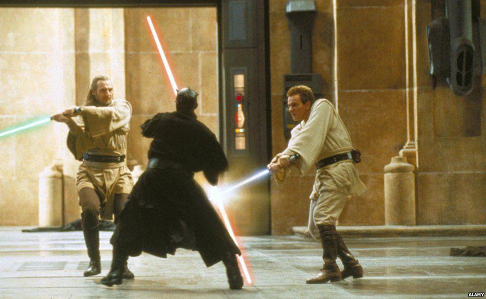 Qui-Gon Jinn, Darth Maul and Obi Wan Kenobi