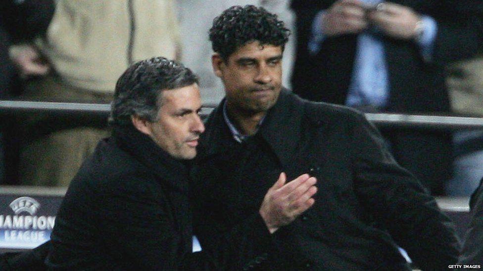 Jose Mourinho and Frank Rijkaard