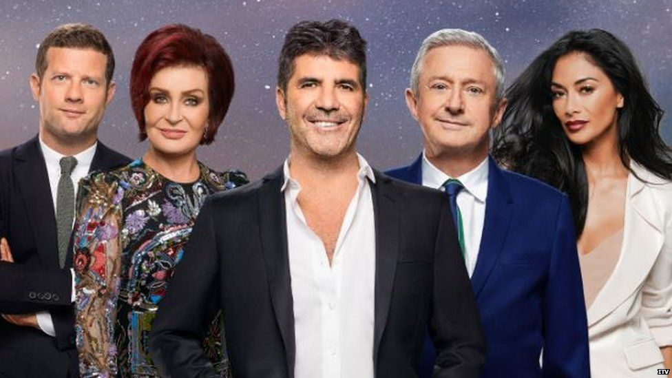 Demot O'Leary and the X Factor judges