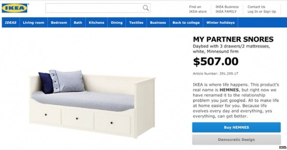 Bed is renamed by Ikea