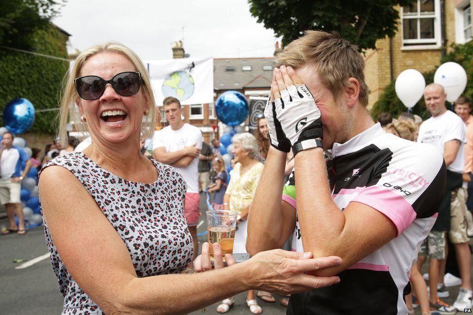 Tom Davies and mum Alison