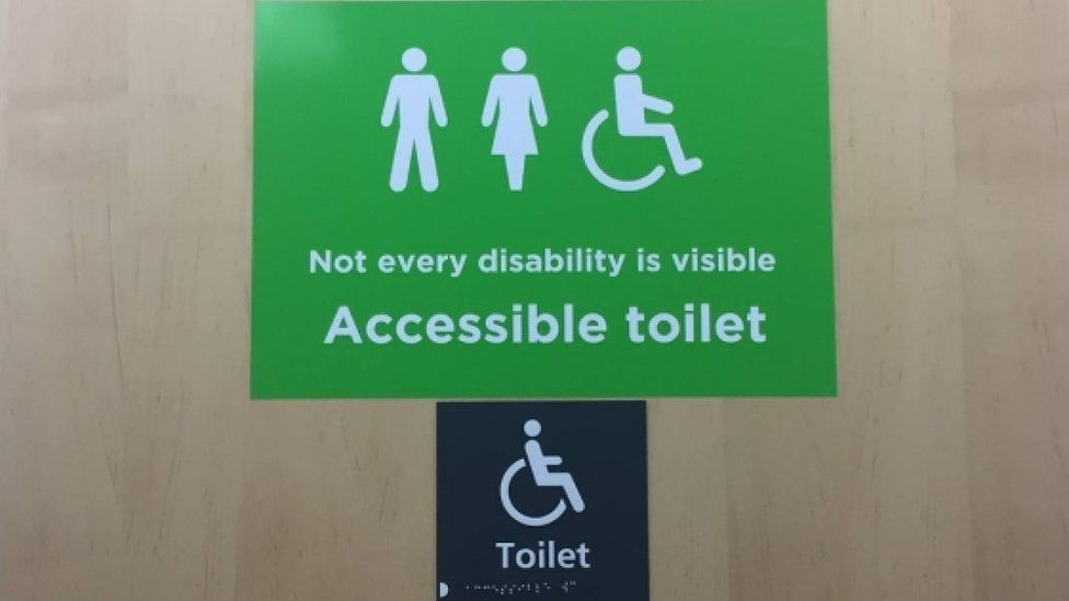 Why These New Signs Are Appearing On Disabled Toilets Bbc Newsbeat