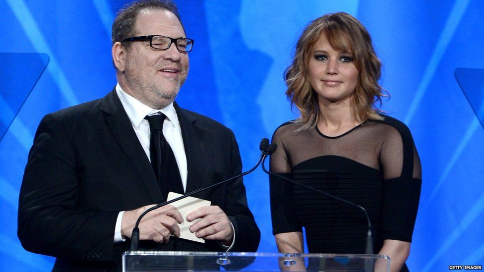 Harvey Weinstein and Jennifer Lawrence