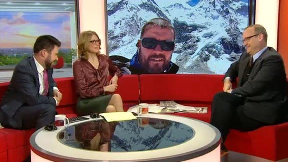 BBC Breakfast hosts and Todd Landman