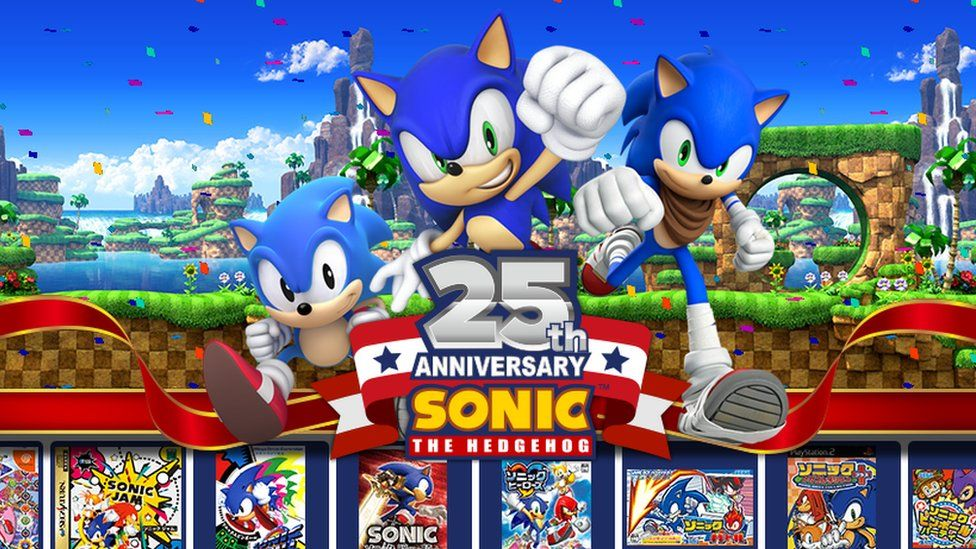 Happy Birthday Sonic The Famous Blue Hedgehog Turns 25 Bbc Newsbeat