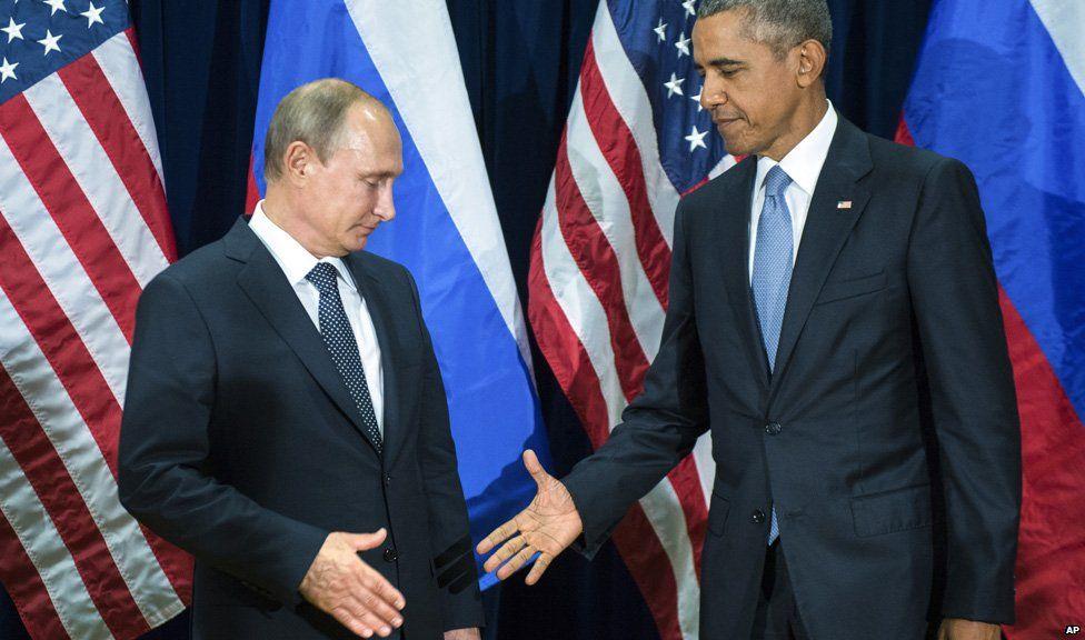 Putin and Obama's frosty handshake