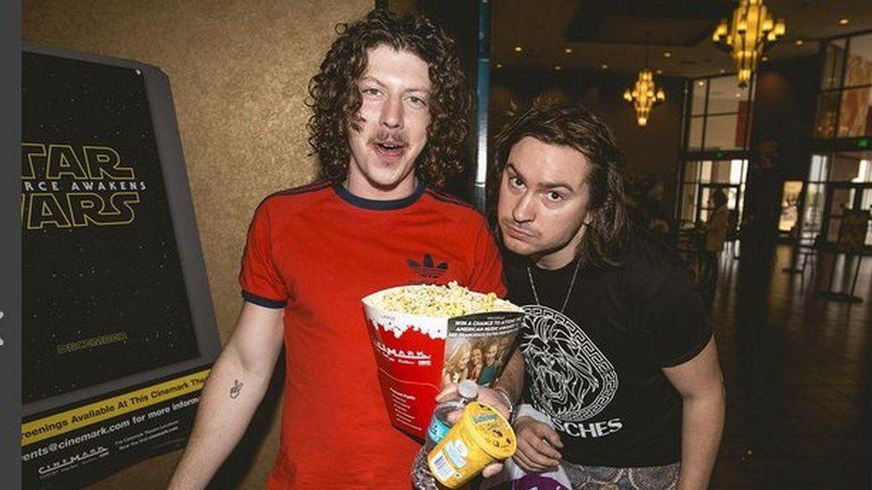 The band at the cinema
