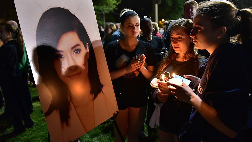 Fans mourn the loss of Christina Grimmie during a vigil for the singer in Evesham, New Jersey