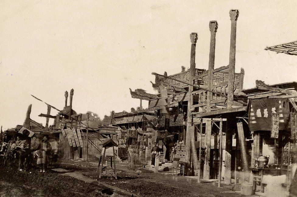 Thomas Child. No. 85. Peking Streets. 1870s. Albumen silver print.