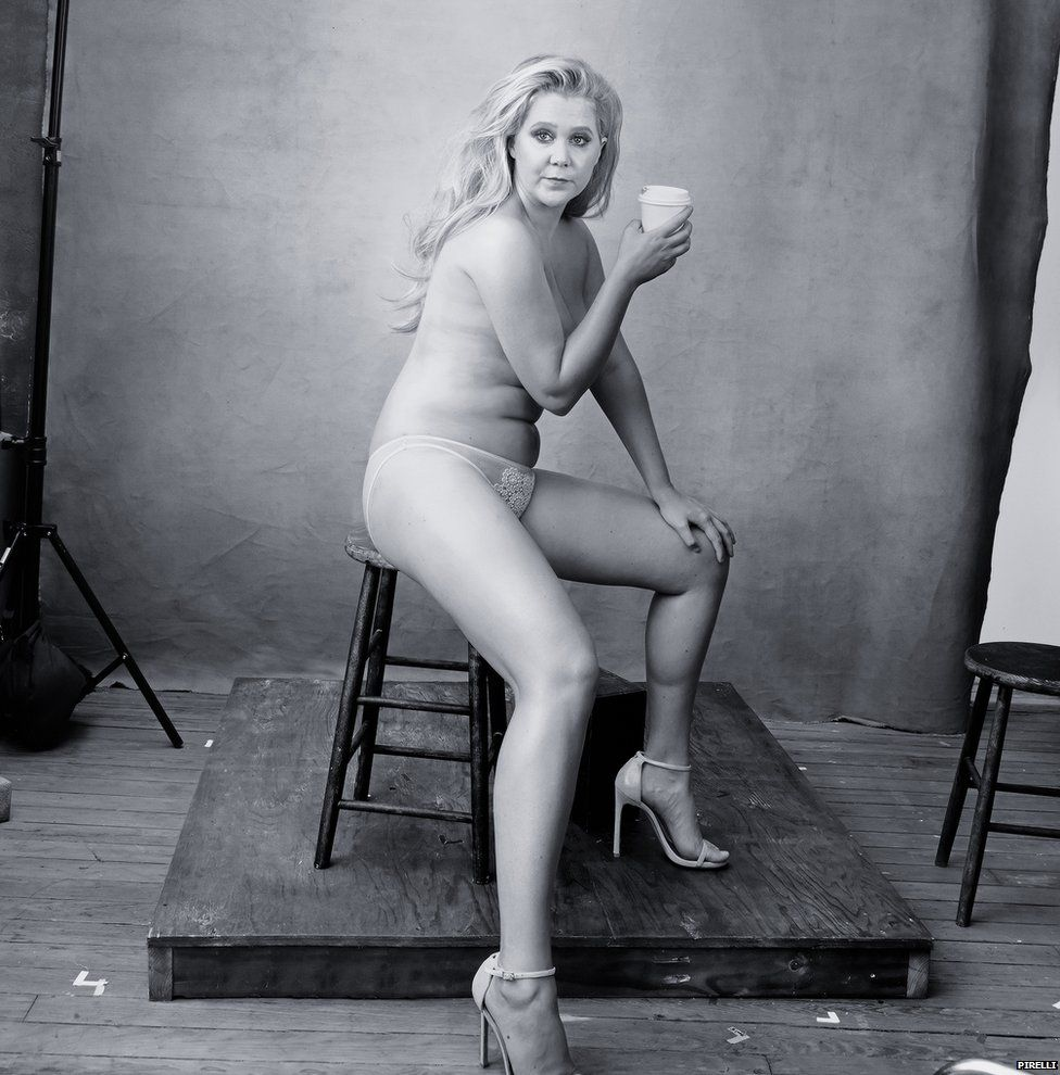 Amy Schumer also features in the calendar