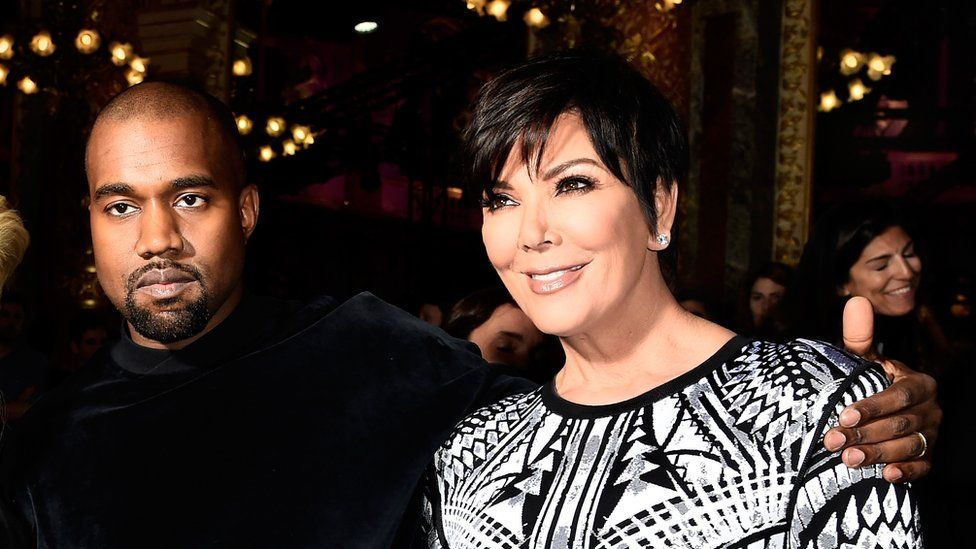Kanye West with mother-in-law Kris Jenner