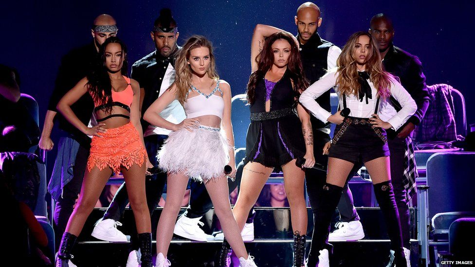 Little Mix performing at the Teen Choice Awards