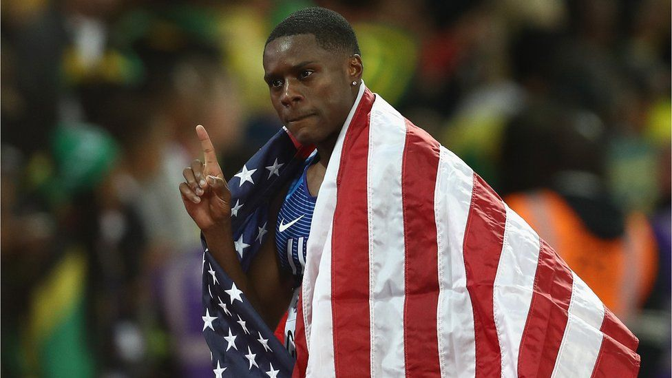 This is a photo of sprinter Christian Coleman.