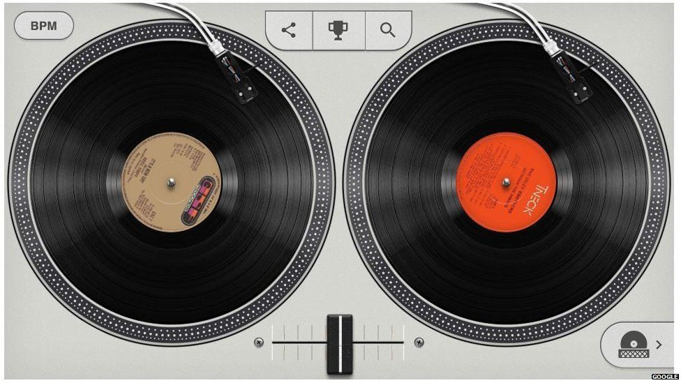 Hip-hop google loll turntables
