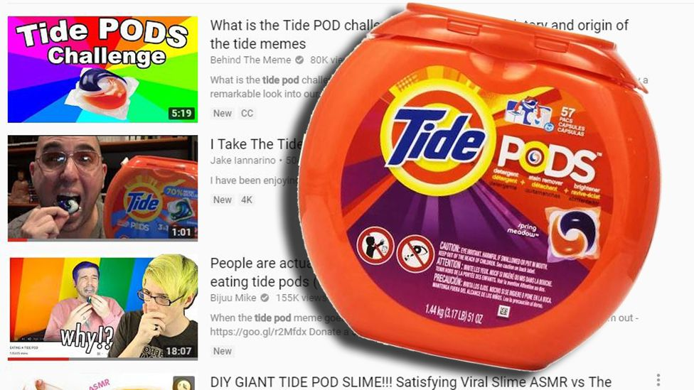 YouTube is pulling down videos of United States teenagers eating detergent