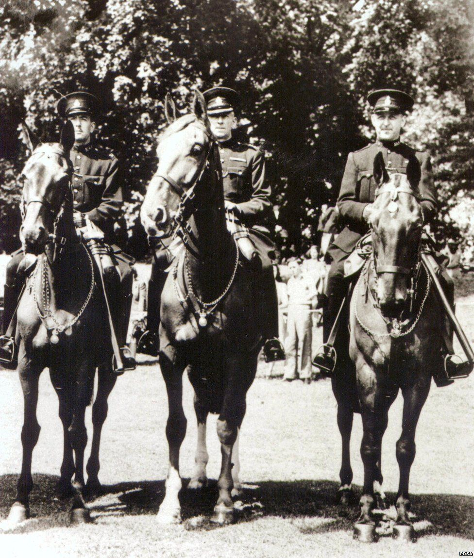 Olga, Upstart and Regal - police horses that were awarded the Dickin Medal in 1947