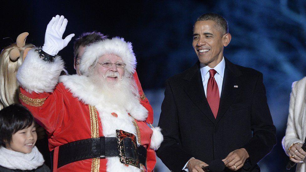 Santa Claus and Barack Obama