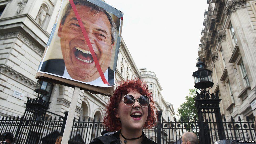 Girl anti-leave protestor