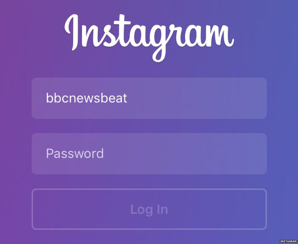 instagram log in