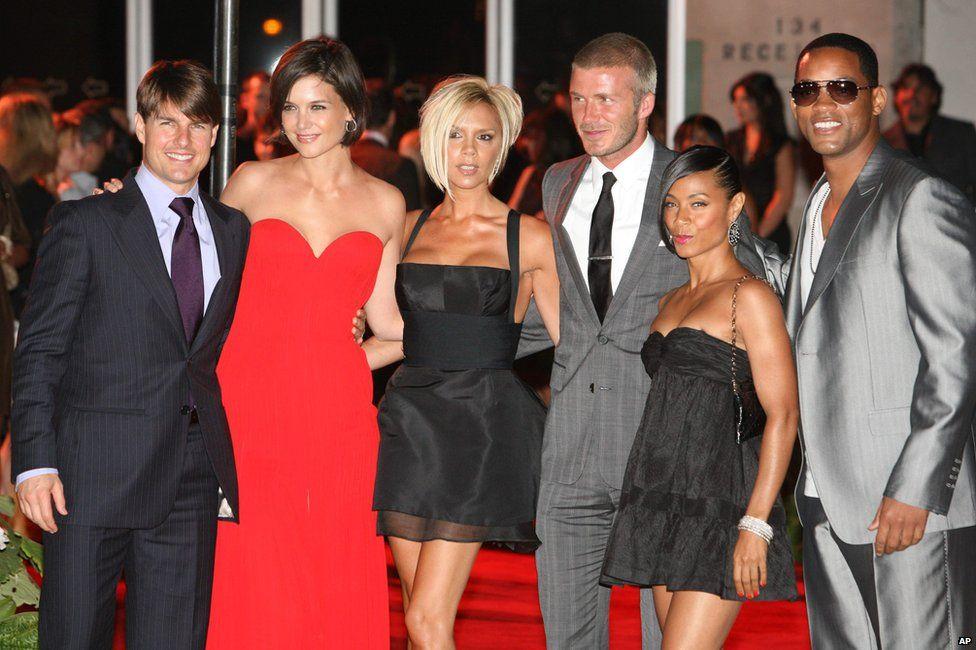 Tom Cruise, Katie Holmes, Victoria and David Beckham, Jada Pinkett Smith and Will Smith