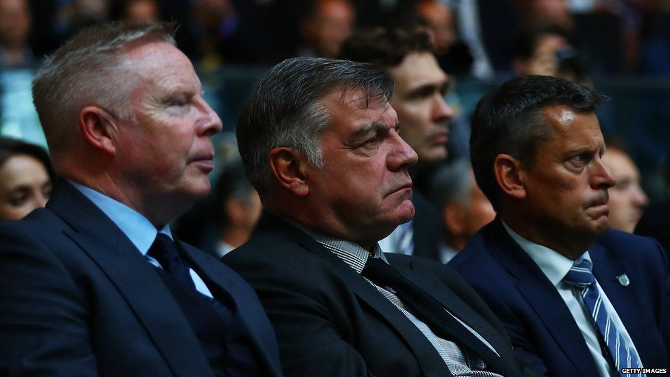 Sam Allardyce with colleagues