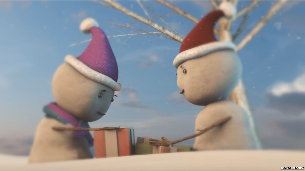 This is a photo taken from Nick Jablonka's John Lewis inspired Christmas video
