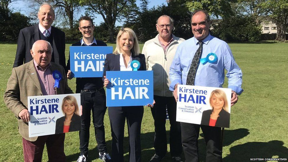 New Conservative MP for Angus Kirstene Hair